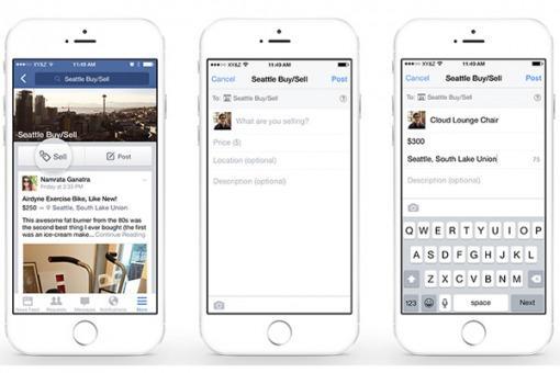 Facebook introdujo una función de compra venta en su plataforma