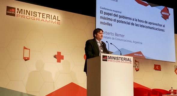 Berner expuso en el Mobile World Congress que se realizó en Barcelona