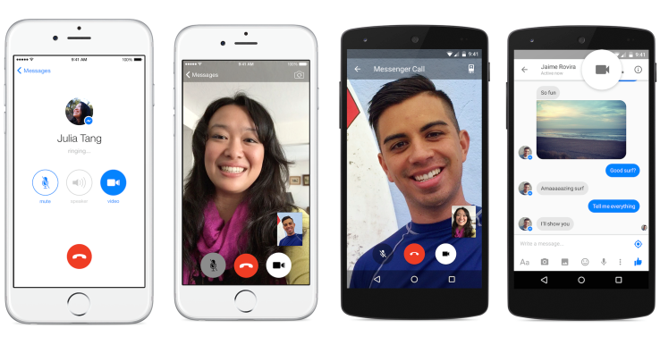 Facebook Messenger lanza videollamadas VoIP gratuitas a través de celulares y Wi-Fi