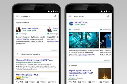 En dispositivos móviles, Google mostrará tuits relevantes entre los resultados de búsqueda