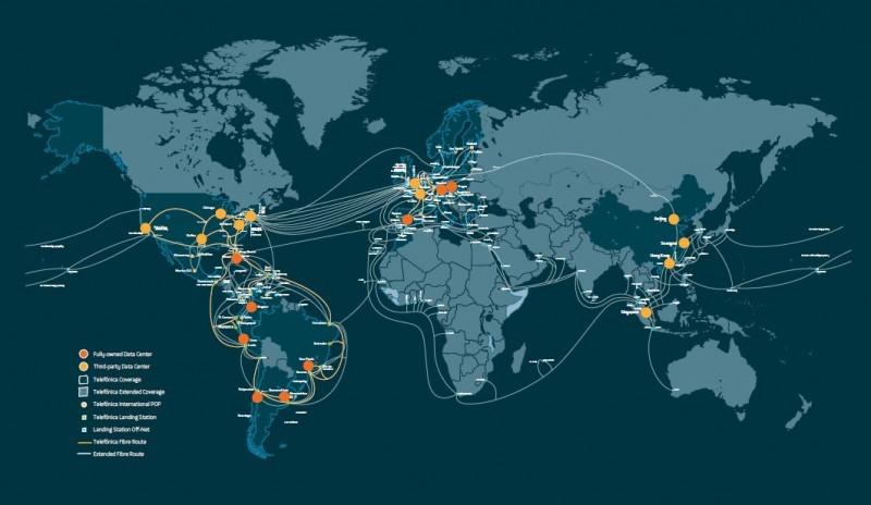 Telefónica reagrupa su infraestructura a nivel internacional para la prestación de servicios a terceros