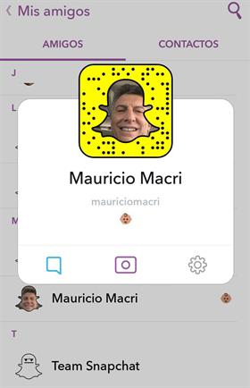 Mauricio Macri se sumó a snapchat