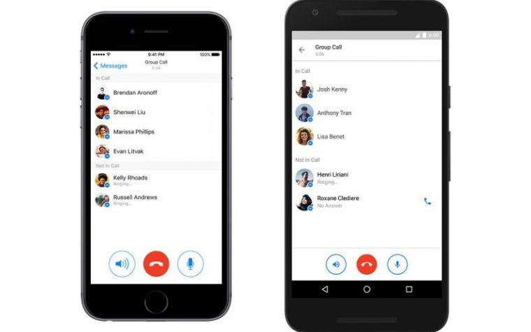 Facebook Messenger incorporó llamadas grupales en Android e iOS