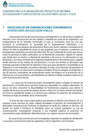 Ley de Comunicaciones convergentes