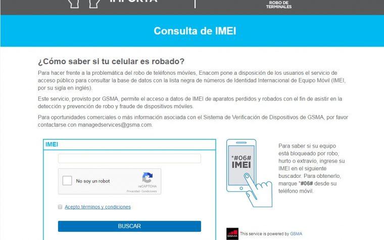 Enacom habilitó la web para saber si un celular es robado