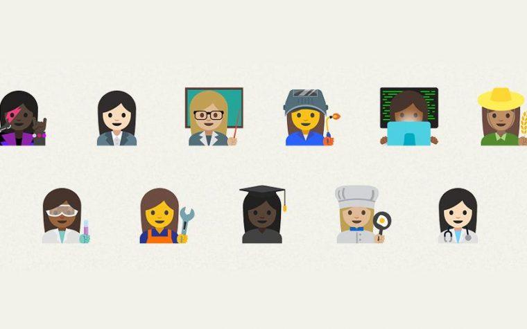 Google propuso 11 emojis femeninos que incluyen doctoras y científicas