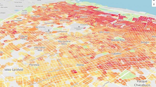 Crean mapa 3D para buscar, comprar o alquilar propiedades