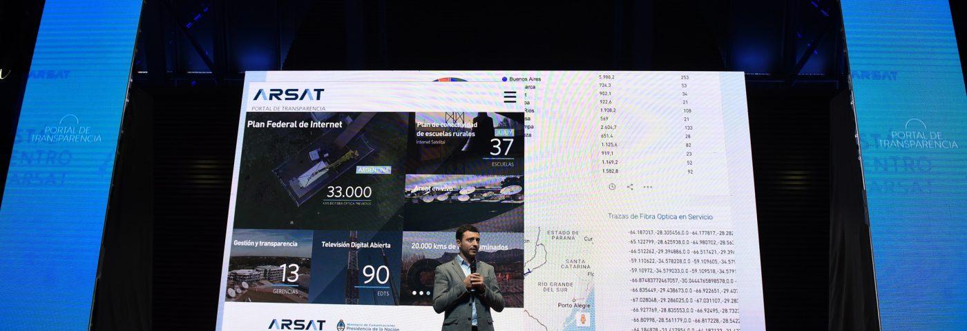 Arsat lanzó un portal para que los ciudadanos puedan controlar el avance de obras