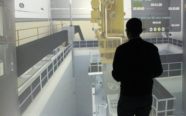 Simulador de realidad virtual realizado en Argentina permite entrenar operarios de Atucha I