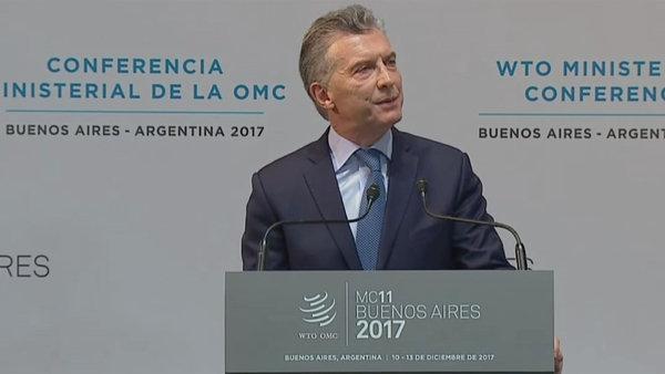 En medio de la polémica por las deportaciones, Macri inauguró la XI Conferencia Ministerial de la OMC