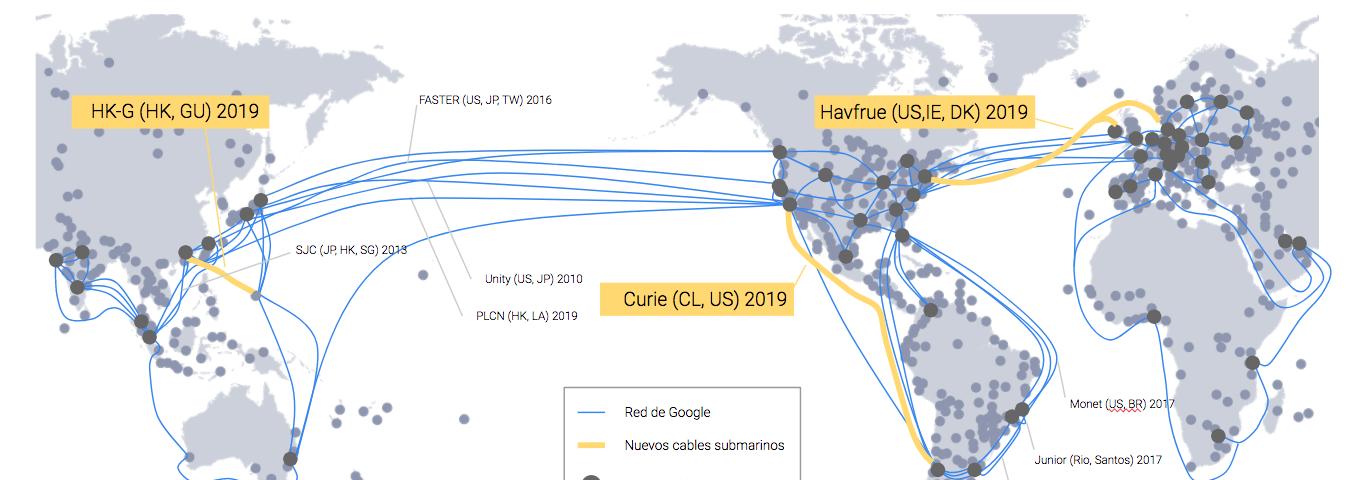 Google desplegará un cable submarino propio entre Los Ángeles y Chile